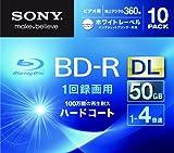 SONY ビデオ用BD-R 追記型 片面2層50GB 4倍速 ホワイトプリンタブル 10枚パック 10BNR2VGPS4 ランキングお取り寄せ