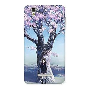 Special Premier Cherry Blossom Multicolor Back Case Cover for Yu Yureka