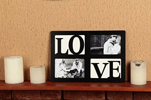 "LOVE Picture Frame by AMYHome - Romantic Collage Photo Frame for Newlyweds, Engaged Couples or Anniversaries - With Love Frame get FREE EBOOK ""10 Romantic Photo Ideas"""