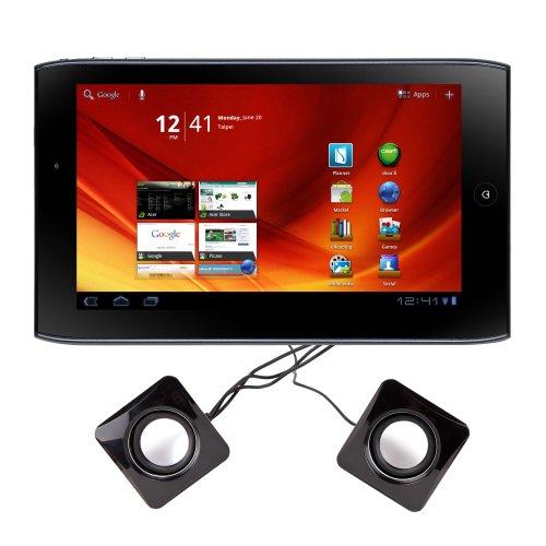 DURAGADGET Portable USB Tablet Speakers For Acer Iconia Tab A100, Motorola Xoom 2, Blackberry PlayBook, Sony Tablet S & Viewsonic ViewPad 7x