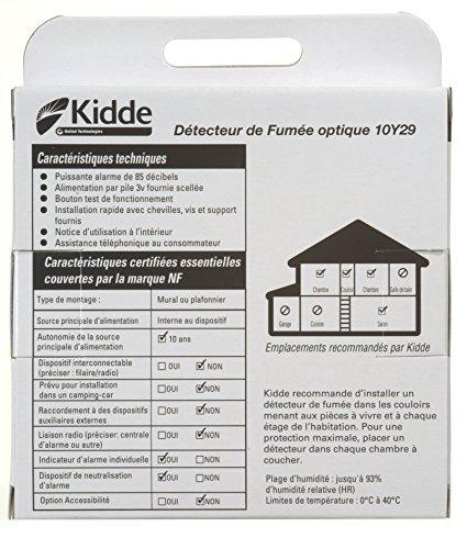 kidde kid10y29 standard d tecteur de fum e avec pile 10 ans antivol. Black Bedroom Furniture Sets. Home Design Ideas