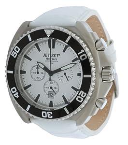 jet set herren armbanduhr new york chronograph wei j13801 131 uhren. Black Bedroom Furniture Sets. Home Design Ideas