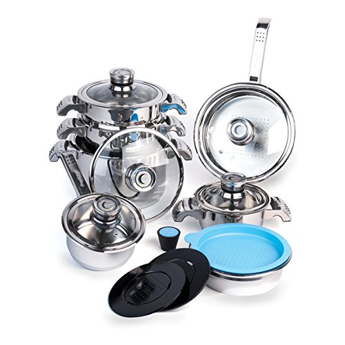 16-Piece Cookware Set with Detachable Thermo Knob (Berghoff Knob compare prices)