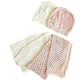 KIDS用 女の子用 かぎ編みニット 帽子+ストール2点セット サマーニット キッズ用
