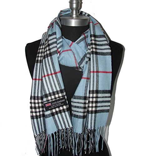 Big Check Loop Plaid Unisex-Blue_SM02 (US Seller)NEW Scarf SCOTLAND