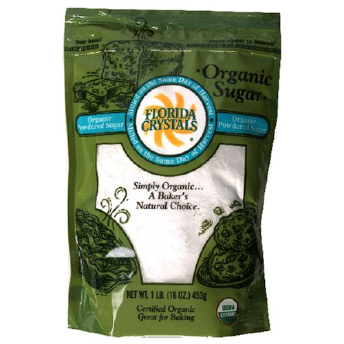 Buy Florida Crystals Organic Sugar, Powdered, 16-Ounce Bags (Pack of 6)