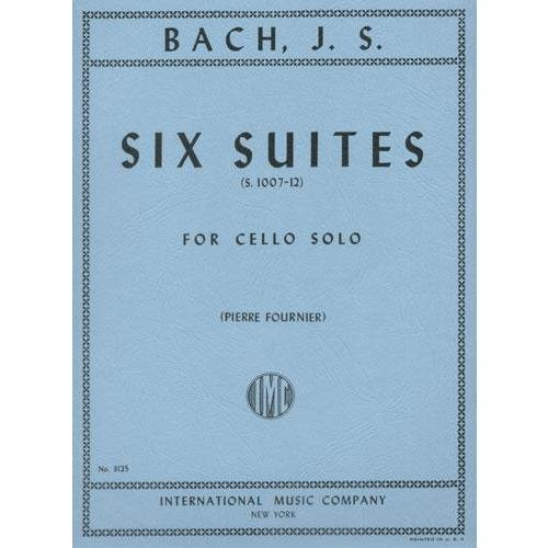 Bach, JS - 6 Cello Suites BWV 1007 for Cello - Arranged by Fournier - International Edition