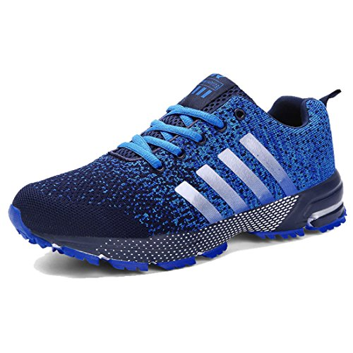 6086743a9b792 J-Fashion Men Comfortable Breathable Fly Weave Sneakers Lace-up Lightweight  Walking Running Shoes