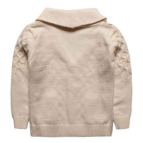 eTree Baby Boys' Girls' Lapel Button Cashmere Cardigan Sweater Beige Size 3T