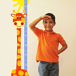 Medidor de altura JIRAFA NARANJA en BebeHogar.com