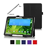 ProCase Samsung Galaxy Tab PRO 10.1 Tablet Case with bonus stylus pen - Bi-Fold Stand Cover Case for Galaxy TabPRO 10.1 inch SM-T520,T525 (Black)