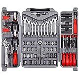 CARTMAN 123-Piece Tool Set - General Household Hand Tool Kit with Plastic Toolbox Storage Case (Tamaño: 123pk)