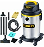 Stanley SL18129 4-Gallon 4 Peak Portable Stainless Steel Series Horsepower Wet or Dry Vacuum Cleaner