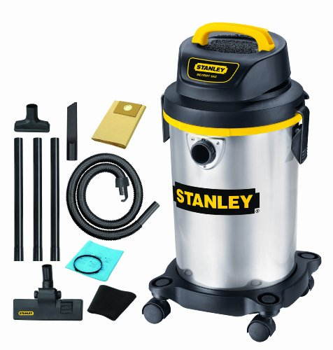 Stanley SL18129 4-Gallon 4 Peak Portable Stainless Steel Series Horsepower Wet or Dry Vacuum Cleaner