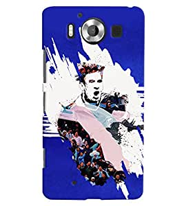 PRINTVISA Football Messi Case Cover for Nokia Lumia 950::Microsoft Lumia 950