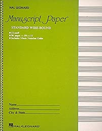 Manuscript Paper Standard Wire-Bound 12 Stave