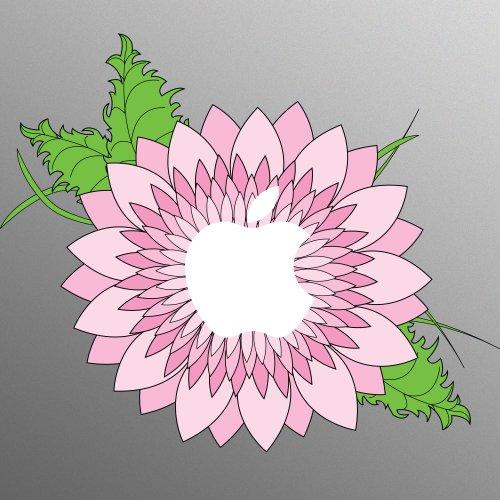 Pink Flower Aufkleber Sticker