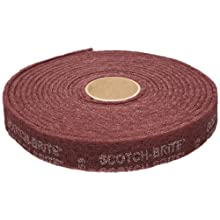 "Scotch-Brite Clean and Finish Roll, Aluminum Oxide, Roll 3"" Width x 30' Length, A Very Fine Grit (Pack of 1)"