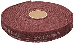 "3M Scotch-BriteTMCleaning & Finishing Rolls - Size: 3"" x 30' Grade: A VFN Color: Maroon"