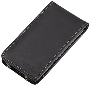 AmazonBasics Leather Case with Front Cover for Apple iPod touch 3rd Gen (Black)