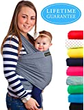 4-in-1 CuddleBug Baby Wrap Carrier   Soft Baby Carrier   Baby Sling Carrier   Postpartum Belt   Nursing Cover   Best Baby Shower Gift (Grey)