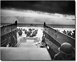 Omaha Beach US Troops WWII D-Day 1944 11x14 Museum Silver Halide Photo Print