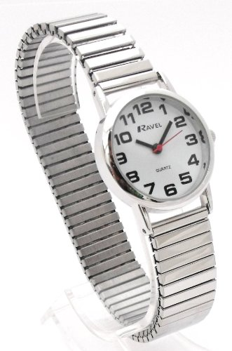 Ladies Easy Read Silver Expanding/Expander/Expansion Bracelet Band Watch (R0208.02.2S)