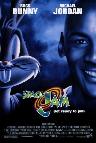 (27x40) Space Jam Michael Jordan Bugs Bunny Movie Poster