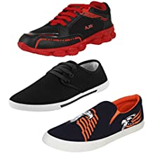 Bersache Men Combo Pack Of 3 Sports With Casual Shoes