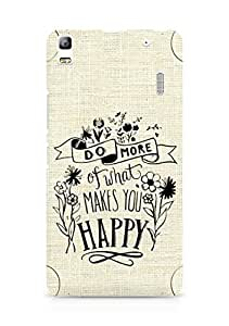 AMEZ do more of what makes you happy Back Cover For Lenovo A7000