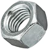 "Steel Small Pattern Machine Screw Hex Nut, Zinc Plated Finish, #4-40 Thread Size, 3/16"" Width Across Flats, 1/16"" Thick (Pack of 100)"