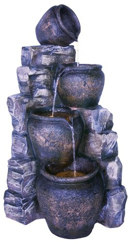 Easy Fountain Slate Wall Pots Includes Lights
