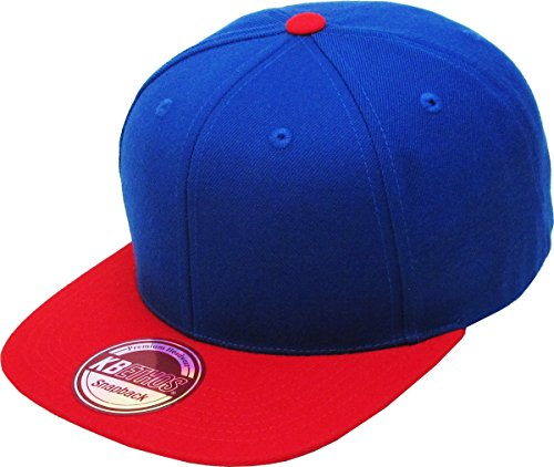 KAW-3467 ROY-RED KBETHOS Plain Adjustable Wool Blend Snapback Cap – Classic Solid
