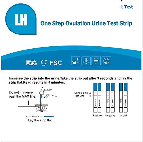 accumed one step ovulation lh test strips fertility kit. Black Bedroom Furniture Sets. Home Design Ideas