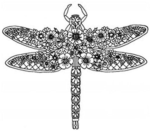 creative-expressions-floral-dragonfly-pre-cut-stamp