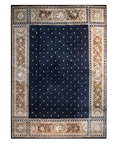 The Rug Market Chengdu Rug, Navy/Gold, 11' 3 x 14' 7