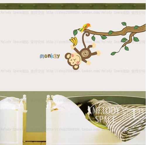 Monkey Themed Bedroom front-509560