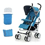 Petite Star Zukoo Stroller Including Footmuff and Change Bag (Lagoon)