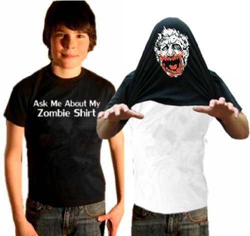 Kids Zombie Costume Shirt - Ask Me About My Zombie Shirt Youth T-Shirt #55