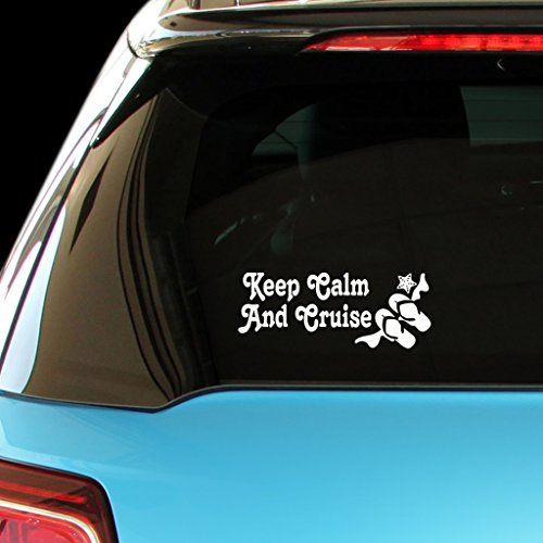 KEEP-CALM-AND-CRUISE-Car-Laptop-Wall-Sticker
