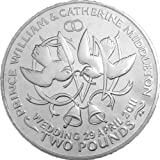 2011 Royal Wedding Coin: Prince William & Kate: Ascension Island: Doves