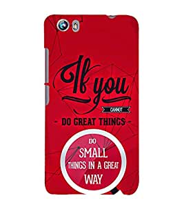 If You Great Things 3D Hard Polycarbonate Designer Back Case Cover for Micromax Canvas Fire 4 A107