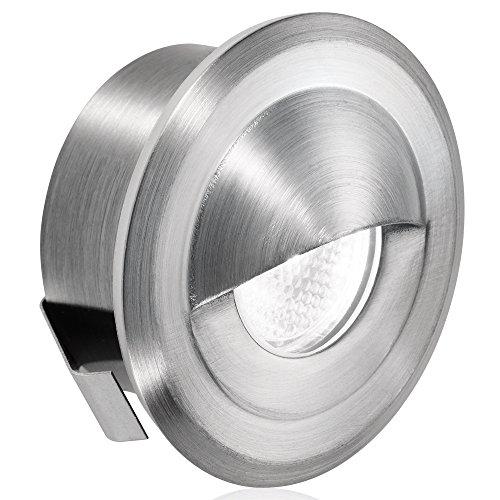 Aurora 12/24V Dc Stainless Steel 316 Ip66 Fixed Eyelid 1W Led Marker Light - White