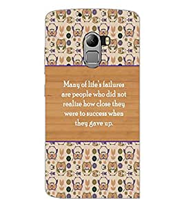 PrintDhaba Quote D-5723 Back Case Cover for LENOVO VIBE K4 NOTE (Multi-Coloured)