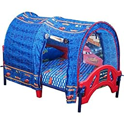 Disney Cars Toddler Bed with Tent, Non-toxic finish