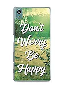 YuBingo Don't Worry. Be Happy Designer Mobile Case Back Cover for Sony Xperia Z5