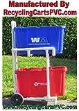 Recycling Cart |Florida Weather Proof - Won't Rust - Sturdy PVC - Free Shipping