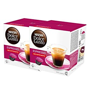 Choose Nescafé Dolce Gusto Espresso Decaffeinato, Pack of 2, 2 x 16 Capsules from Nestlé