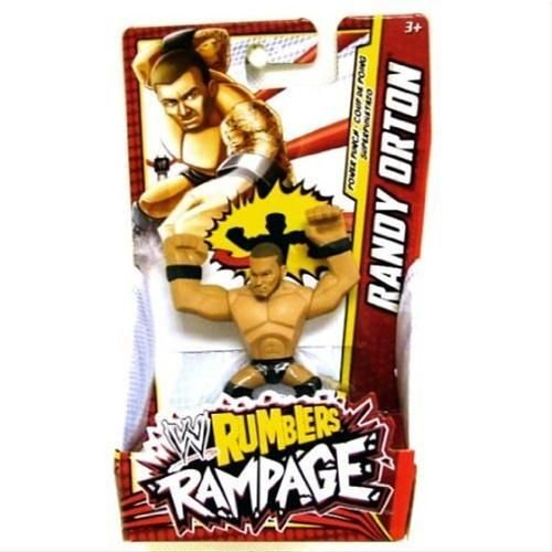RANDY ORTON (BLACK & RED - PUNCH) - WWE RUMBLERS RAMPAGE MATTEL TOY WRESTLING ACTION FIGURE - 1