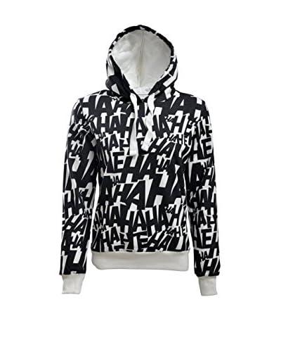 DOGO Kapuzensweatshirt Hahaha schwarz/weiß